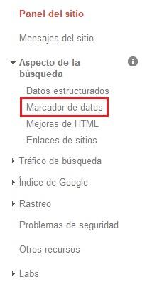 marcador datos google