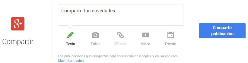 Google My Business compartir novedades