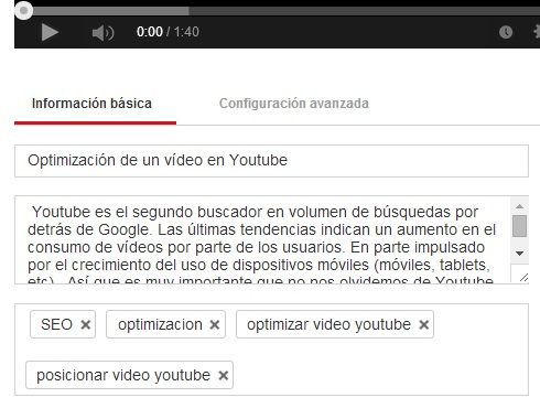 datos video youtube