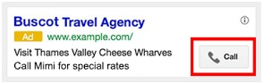 Extension llamada google adwords