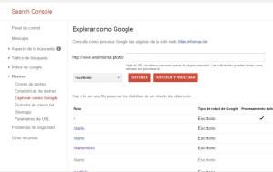 explorar como google en Search Console