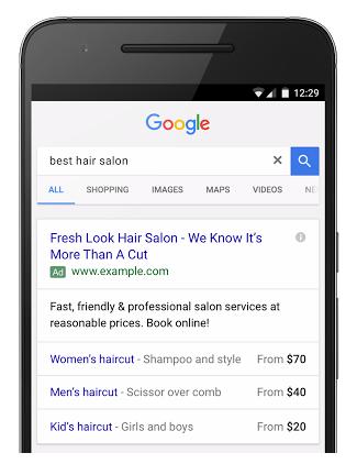 Extension de precio Google Adwords