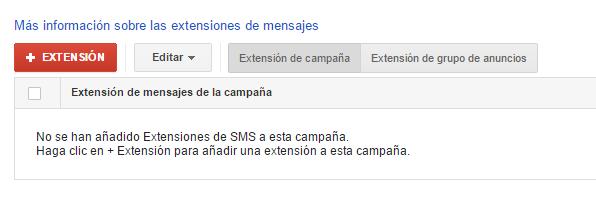 extensiones sms adwords paso 3