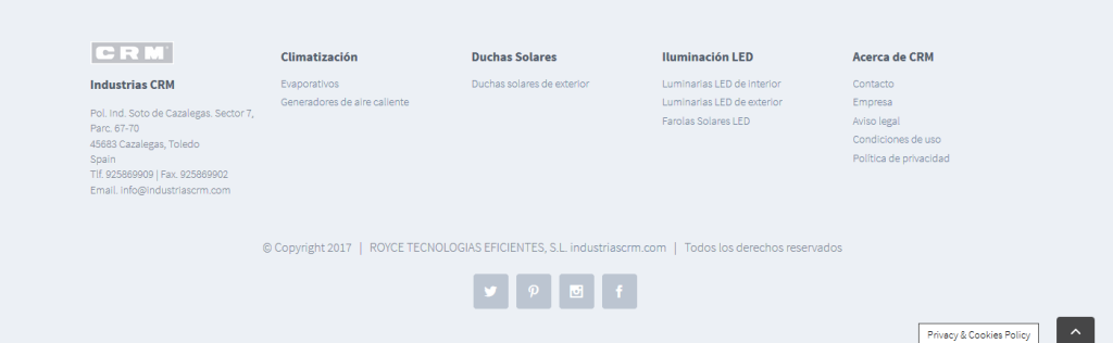 footer de industriascrm