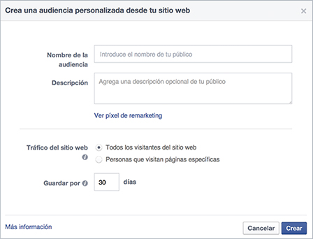 audiencia personalizada facebook