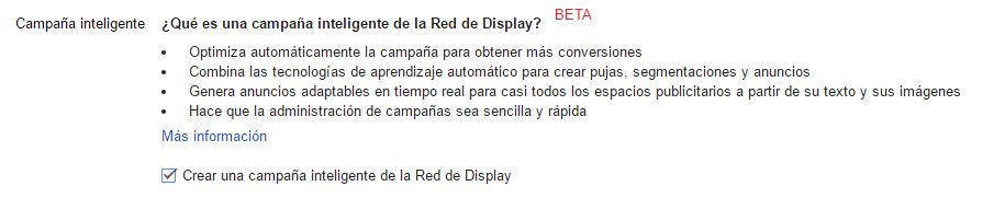 Campaña Smart Display Adwords