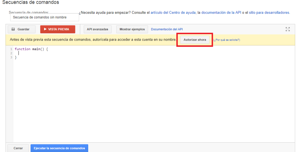 script google adwords