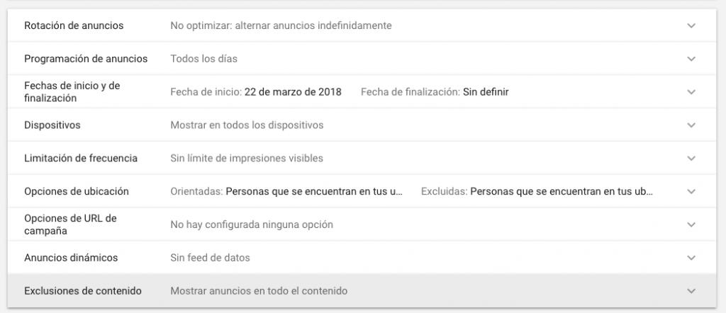 configuracion de display en google adwords