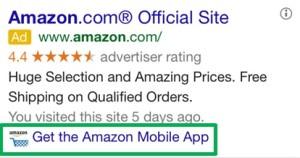 google adwords aplicacion extension