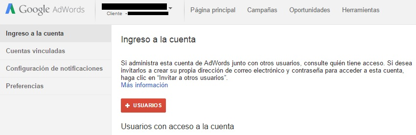 acceso a cuenta