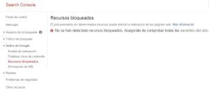 recursos bloqueados en Search Console