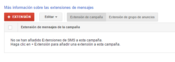 extensiones sms adwords paso 3