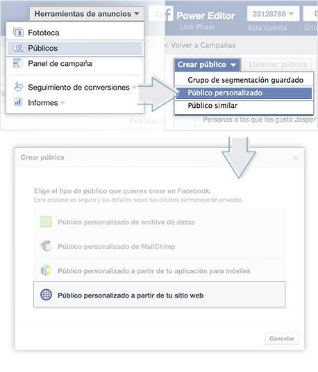lista de remarketing facebook