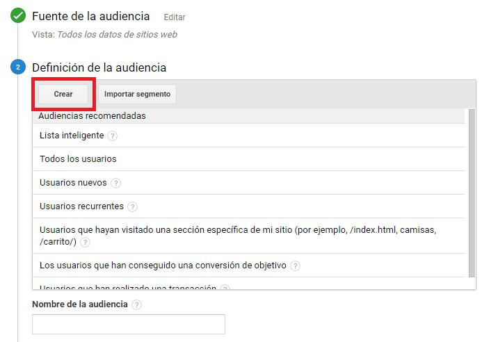 Crear audiencias 3