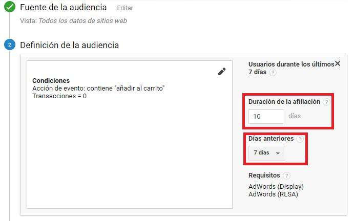 Crear audiencias 9