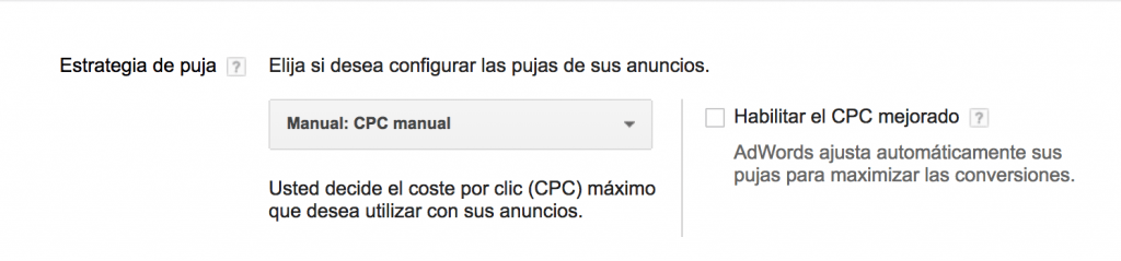 CPC manual en google adwords