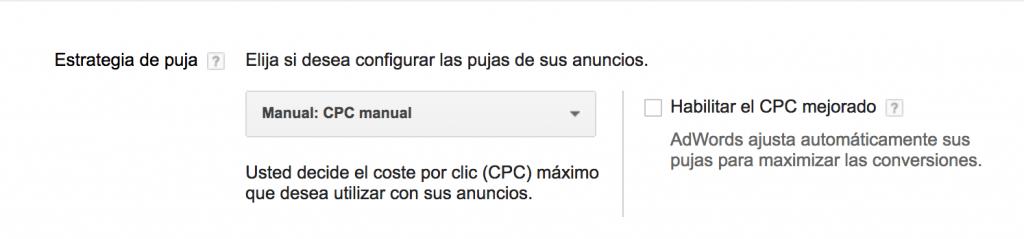 CPC manual en google adwords