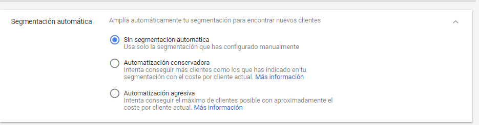 Definir audiencias en Google Adwords