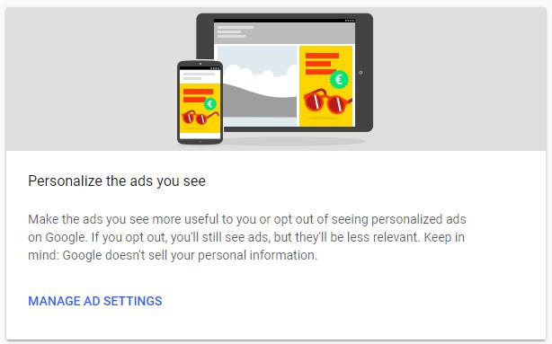 personalizacion anuncios google ads