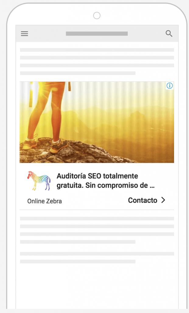 anuncio adaptable display