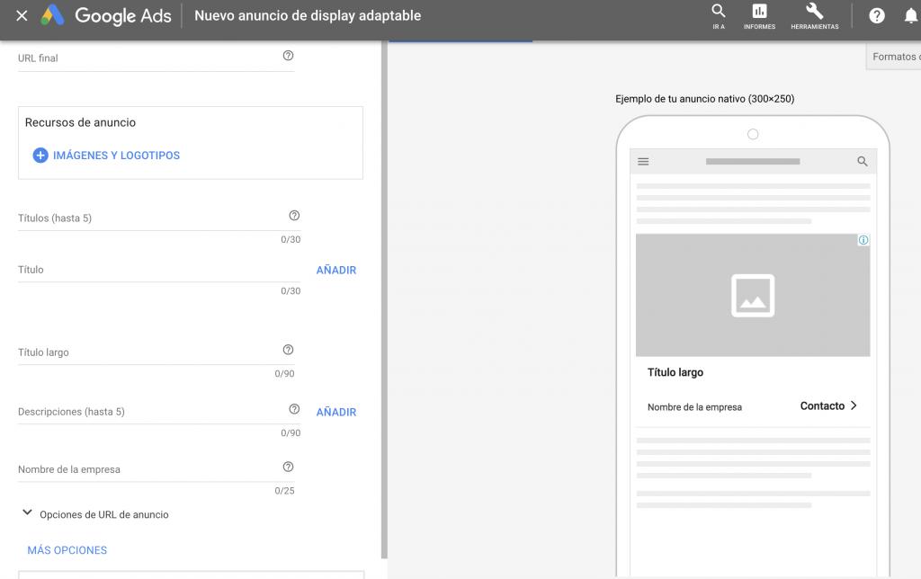 Anuncios adaptables display google ads