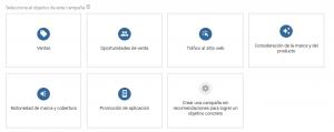 Objetivos Google Ads