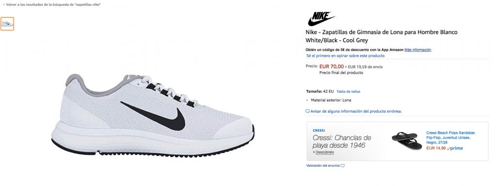 zapatillas nike amazon