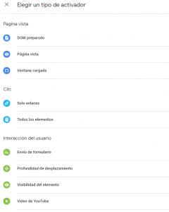 acrtivadores google tag manager