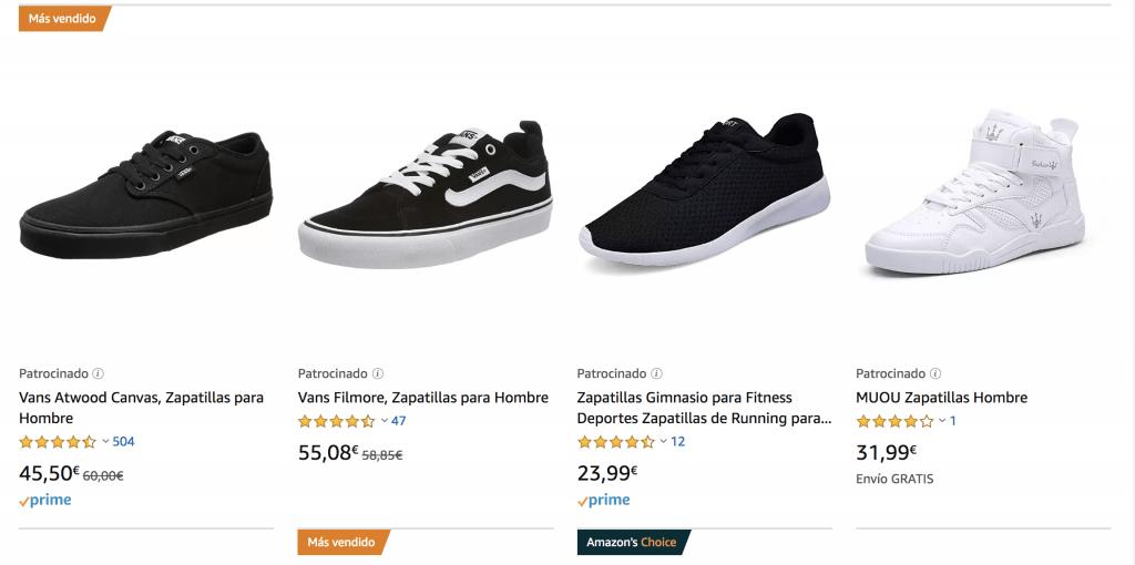 anuncio zapatillas amazon