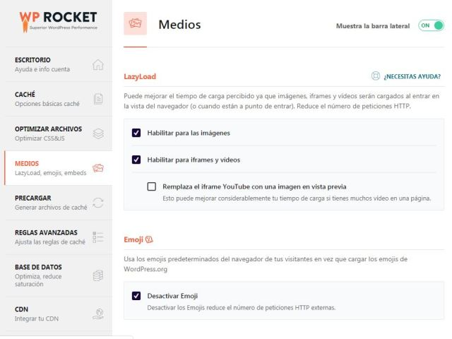 Optimizar medios con WP Rocket