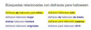 Resultados de Búsquedas Relacionadas de Google