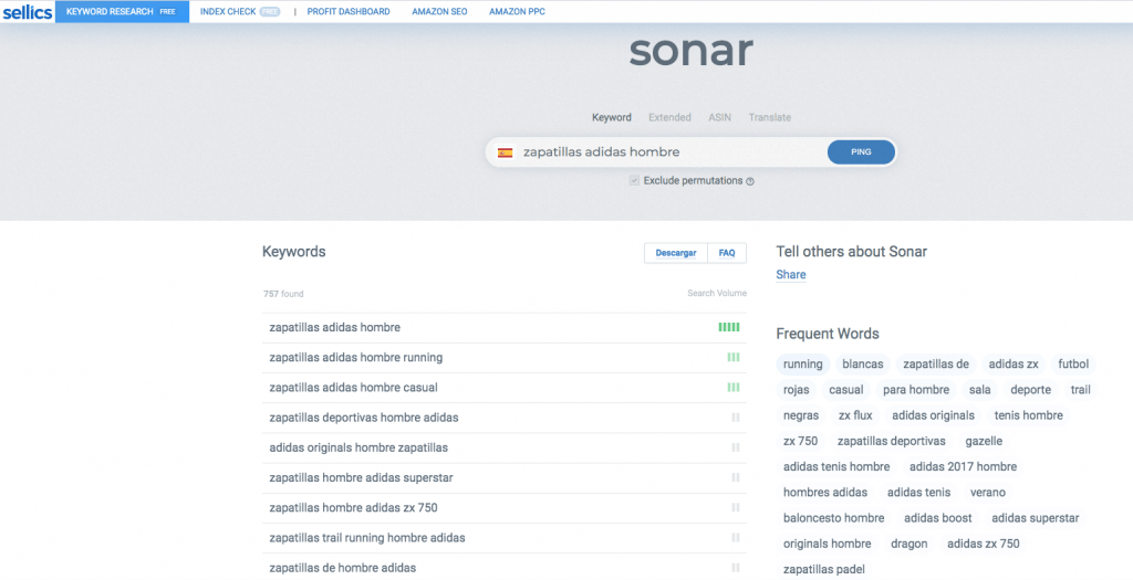 sonar by sellics de amazon