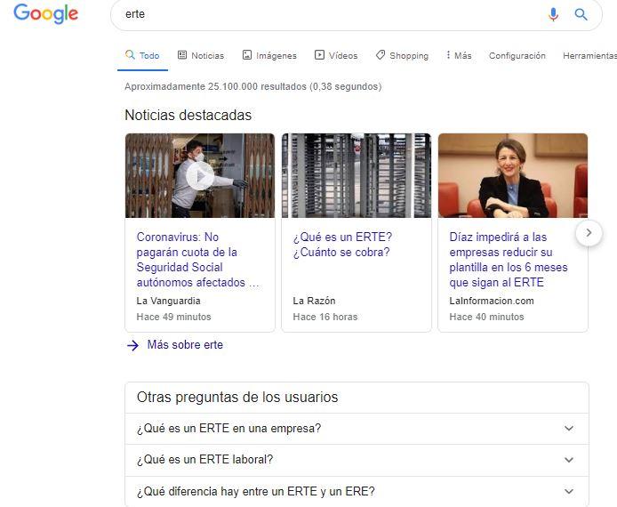 Erte Noticias en Google