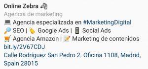 optimizar perfil instagram