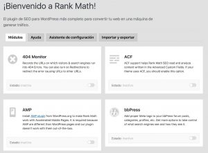 modulos de rank math