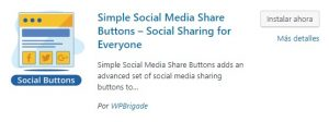 simple button social media