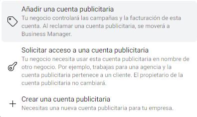 qué es una cuenta publicitaria en facebook