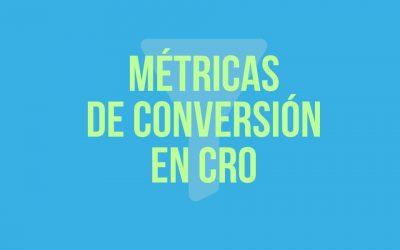Métricas de conversión en CRO